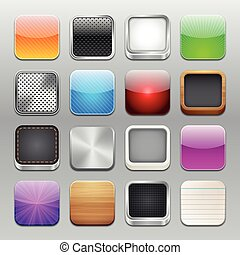 Vector App Icons Templates - A collection of 16 app icons...