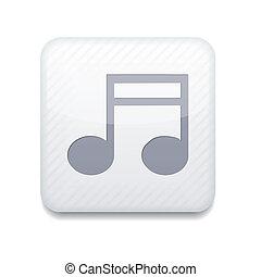 Vector app note white icon. Eps10