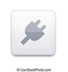 Vector app plug white icon. Eps10