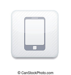 Vector app smartphone white icon. Eps10