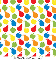 vector, appel, peer, model, -, seamless, fruit