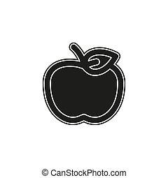 vector apple fruit illustration, fresh healthy food