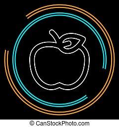 vector apple fruit illustration fresh healthy food