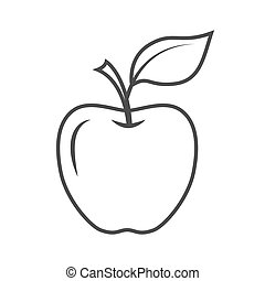 Vector apple icon isolated on a white background