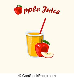 Vector apple juice