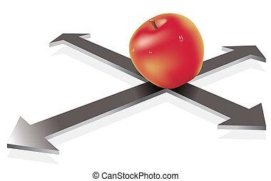 apple on the crossroad