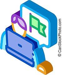 vector, aprendiz, libertad condicional, ilustración, icono