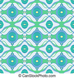 Vector Arabic pattern in blue and green