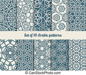 Vector arabic patterns - Set of vector arabic patterns....