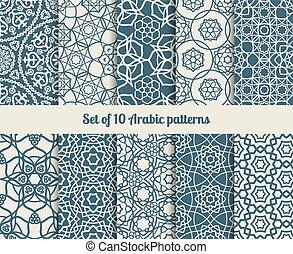 Vector arabic patterns - Set of vector arabic patterns....