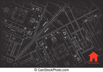 Vector architect background