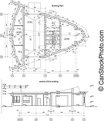 Vector architectural drawing