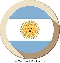 Argentina Flag Button Icon Modern