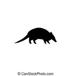 armadillo - vector armadillo silhouette