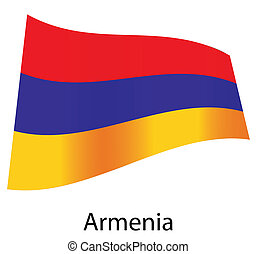 vector armenia flag isolated