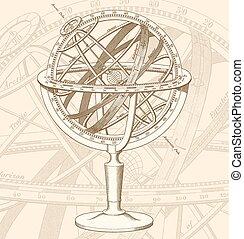 vector Armillary Sphere illustration - High quality vector...