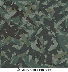 Vector army camouflage background (woodland, green)
