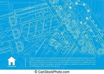 vector, arquitecto, plano de fondo