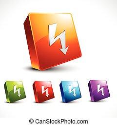 vector arrow 3d icon shape
