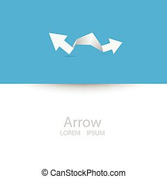 Vector arrow background for text.