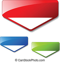 Vector arrow banners for advertising text