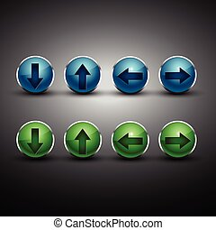 vector arrow button in two colors