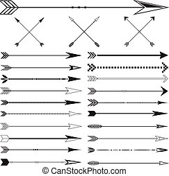 Arrow Clip art Set in Vector on White Background