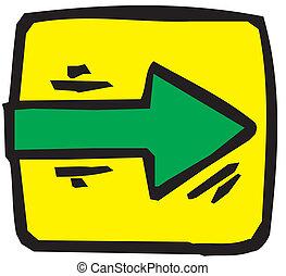 Vector arrow