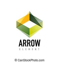 Vector arrow geometric design logo