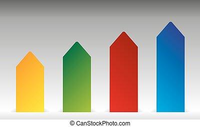 Vector arrow graph background