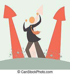 Vector arrow growth concept