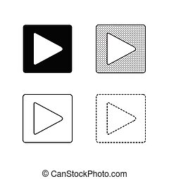Vector arrow icon illustration