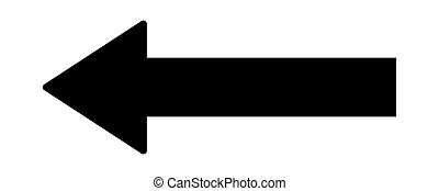 Vector arrow on white background