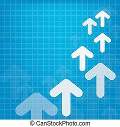 vector arrow upside growing  design illustration