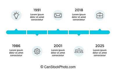 Vector arrows circles timeline infographic, diagram chart, graph presentation. Business progress concept with 5 options, parts, steps, processes.