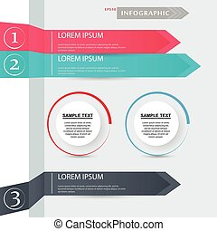 Vector arrows for infographic