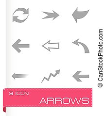 Vector arrows icons set
