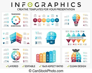 Vector arrows infographic, cycle diagram, graph, presentation chart
