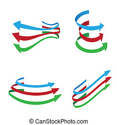 Vector arrows on white background .