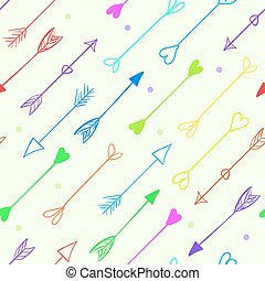 Vector arrows seamless pattern