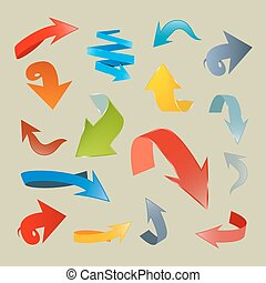 Vector Arrows Set Illustration