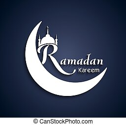 Vector Art Beautiful Ramadan Kareem text design