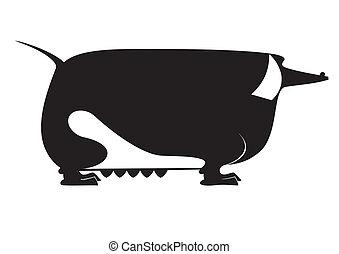 Vector art  dachshund silhouette