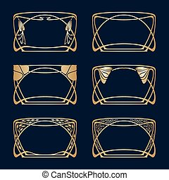 Vector art deco frames.