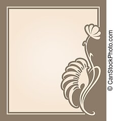 Vector art deco invitation card.