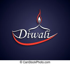Vector Art Diwali text design.