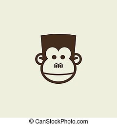 monkey head for template design
