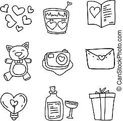 Vector art illustration love of doodles