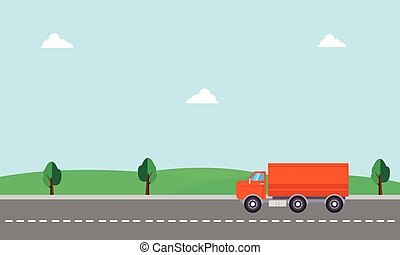 Vector art of delivery truck