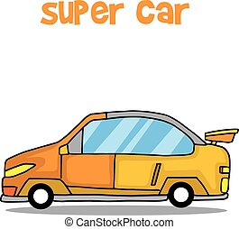 Vector art of super car transport collection